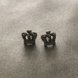 JUICY COUTURE stud crown earrings